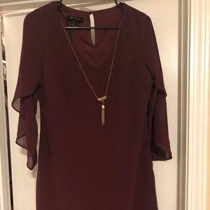 Maroon A line dress